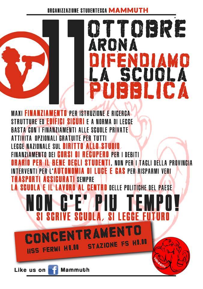 Manifestazione 11 ottobre