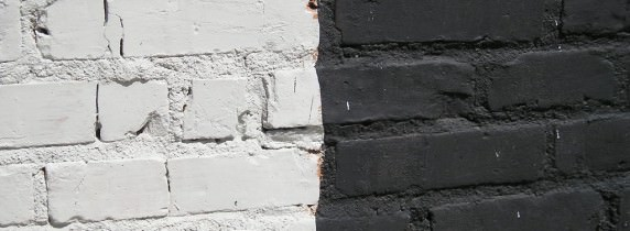 muro bianco e nero
