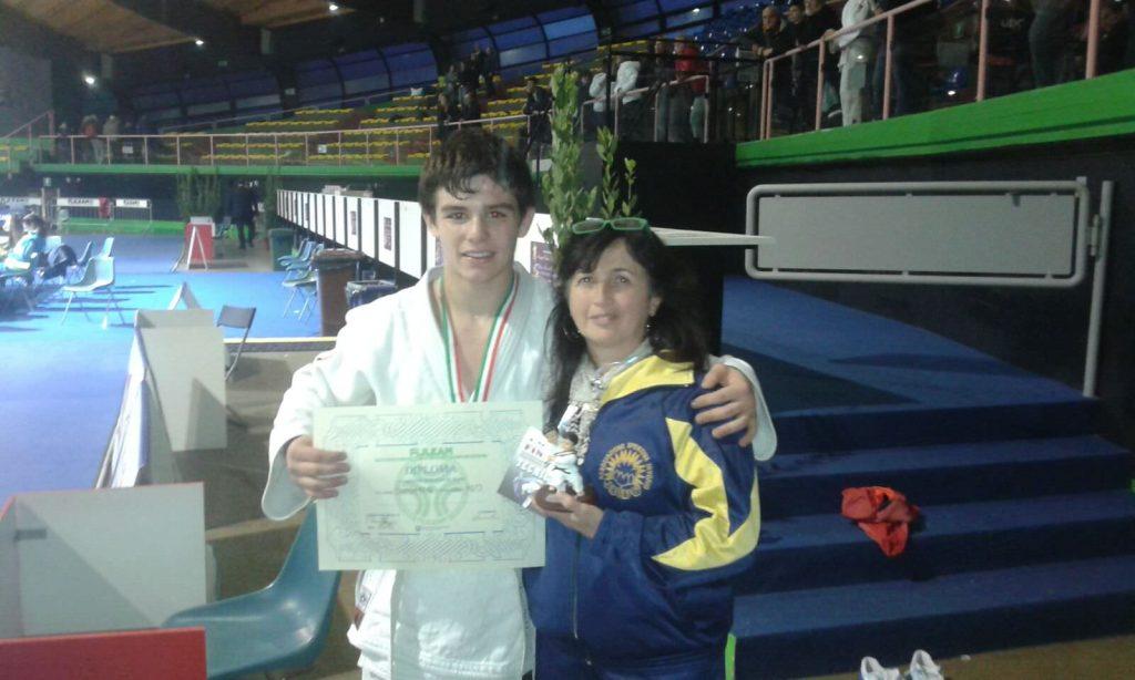 Filippo Bacchetta e la preparatrice Judo Invorio Betty Sartore