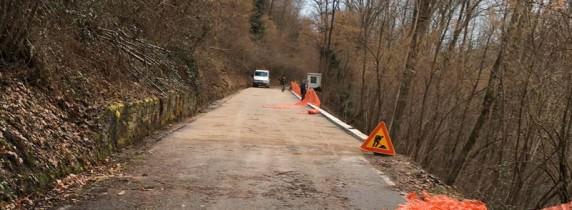strada che collega Meina a Ghevio